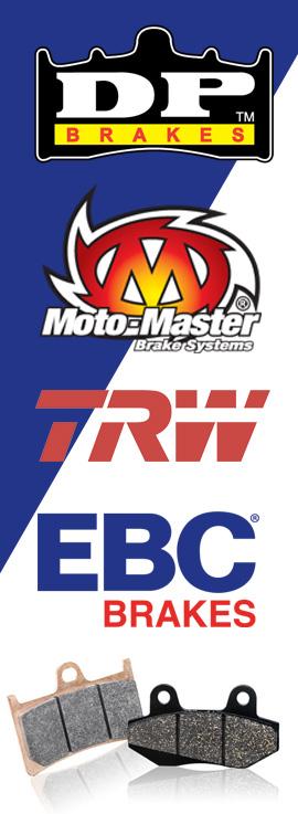 Bromsar från TRW, EBC, Moto Master och DP Brakes